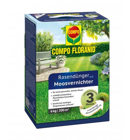 Floranid Rasendünger mit Moosvernichter