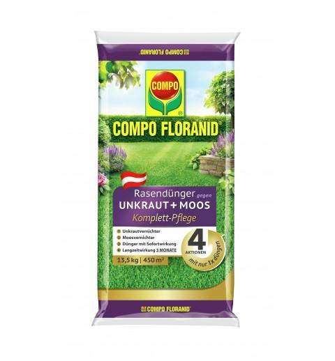 Floranid Rasendünger gegen Unkraut und Moos
